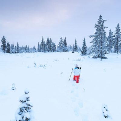 Snowshoeing is a great way to explore Finnish Lapland