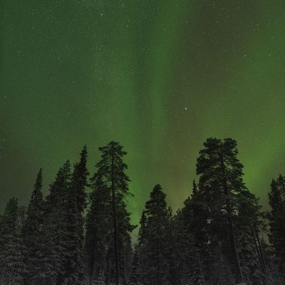 Northern lights captured in Finnish Lapland