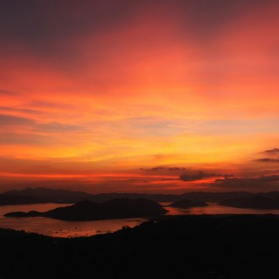 Sunset on top of Mount Tapyas in Coron, Philippines