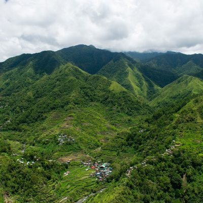 Landscape of the jungle and thousands years old rice terraces of Phillipines