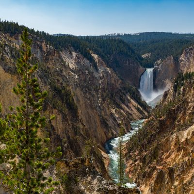 Grand Canyon of the Yellowstone with the very famous yellow rocky formation