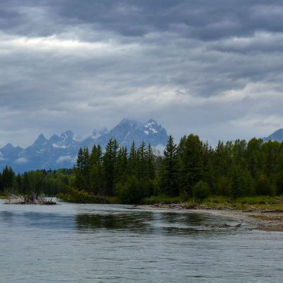 The Snake River is passing through Grand Teton