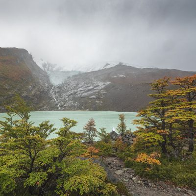 Moody weather at Huemul Glacier in Lago del Desierto