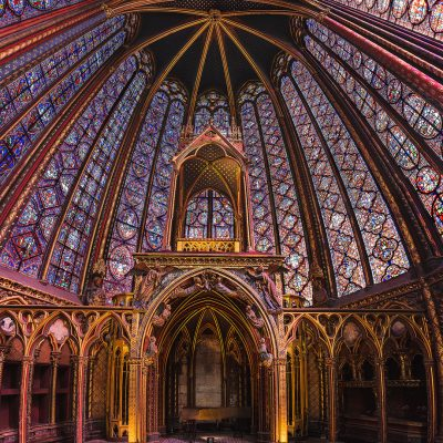 La Sainte Chappelle of Paris and its glory gloden parts