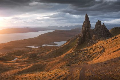 Old Man of Storr during sunrise
