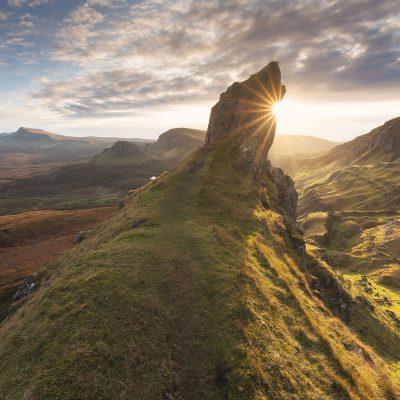 The Quiraing mountain range on Isle of Skye