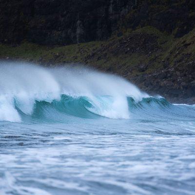 Waves at Talisker Bay beach