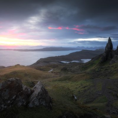 Sunrise at Old Man of Storr from Isle of Skye, Scotland