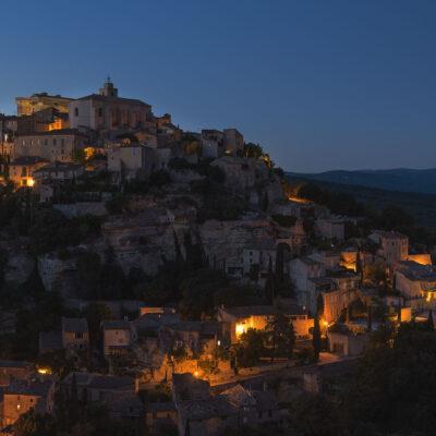 Gordes village of Provence at sunset