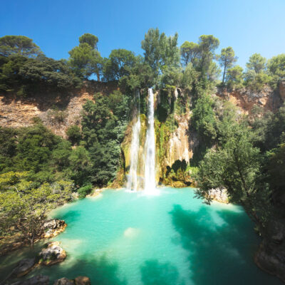 Sillans waterfall in Provence