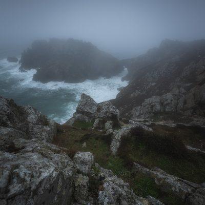 Foggy moment at Pointe de Dinan in Bretagne