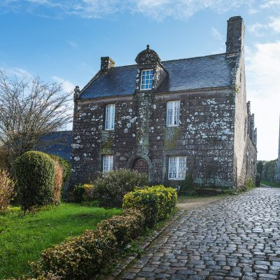 Typical house made of stones in Locronan