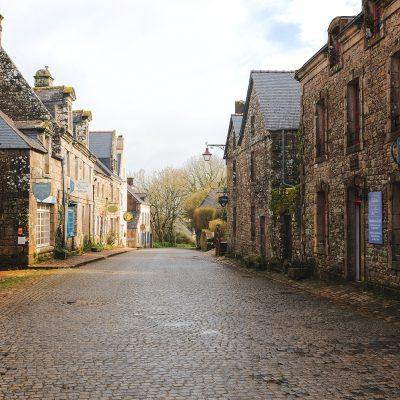 Main street of castletown like Locronan village