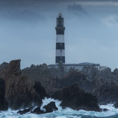 Créach'h lighthouse in Ouessant island on a moody afternoon - Phare du Créac'h